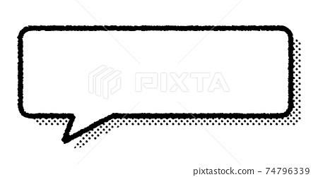 그린 풍선과 도트 그림자 74796339