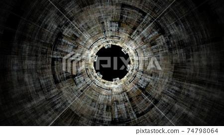 夢幻般的隧道圖像背景 74798064