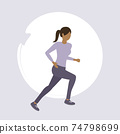 girl exercising by jogging healthy lifestyle fitness design 74798699
