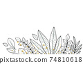 Floral decoration with leaves 74810618