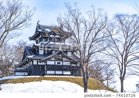 화창한 겨울 다카다 성지 공원 (三重櫓) 74810726