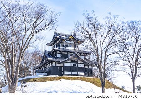 화창한 겨울 다카다 성지 공원 (三重櫓) 74810730