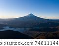 Mt. Fuji Kawaguchiko aerial view Shindo Pass 74811144