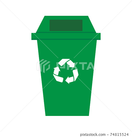 Recycle green bin vector 74815524
