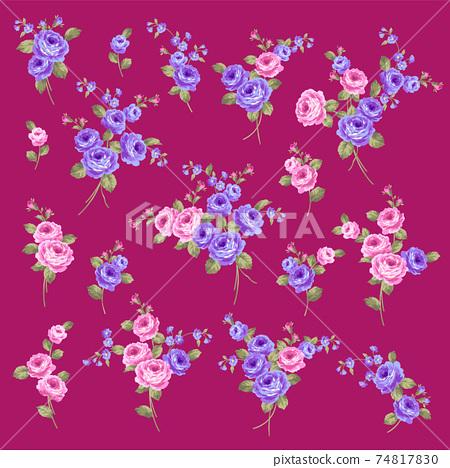 美麗可愛的玫瑰材料系列, 74817830