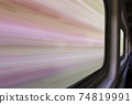blurred abstract landscape from train 74819991
