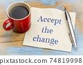 Accept the change - advice on napkin 74819998