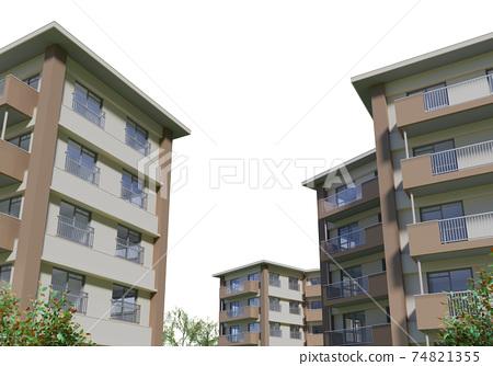 Apartment complex 74821355
