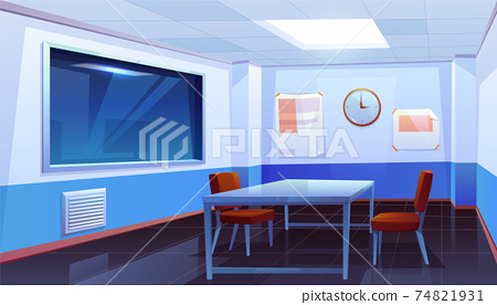 Interrogation room in police station, interior 74821931