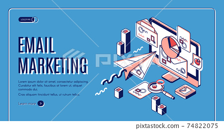 Email marketing landing page, spammer services 74822075