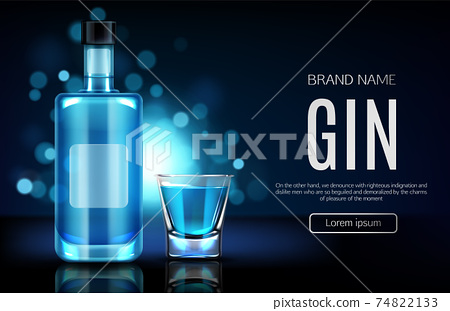 Alcohol drinks store realistic vector webpage 74822133