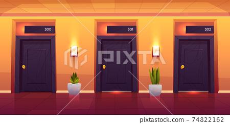 Rooms in hotel corridor empty luxury hotel hallway 74822162