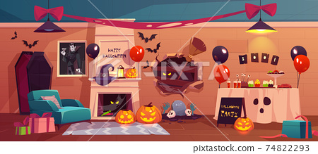 Halloween interior for party celebration, holiday 74822293