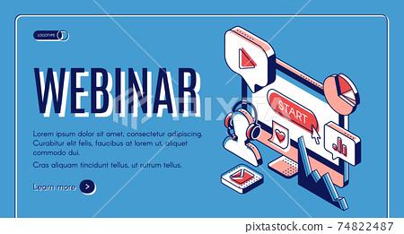 Webinar, conference, video online seminar banner 74822487