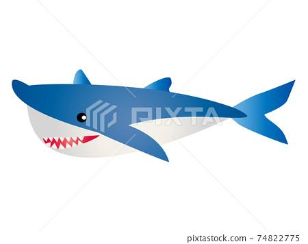 鯊魚矢量圖 74822775