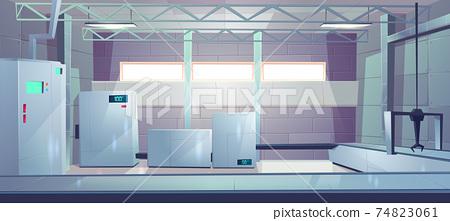 Industrial factory shop interior cartoon vector 74823061