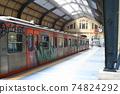 Greek railway terminal station Piraeus station 74824292