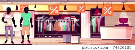 Fashion menswear boutique sale vector illustration 74826186