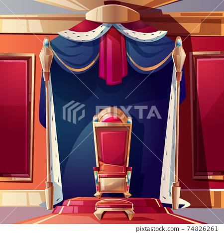 Royal throne in medieval castle cartoon vector 74826261