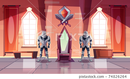 Royal throne in castle or museum cartoon vector 74826264