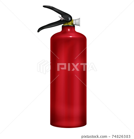 Fire extinguisher 3d realistic vector illustration 74826383