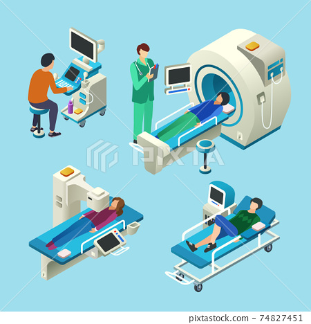 MRI scanner vector illustration isometric medical examination 74827451