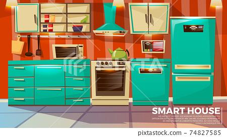 Modern smart kitchen interior 74827585