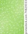 日本紙上的日本圖案背景插圖櫻花圖案圖案綠色還有其他顏色 74829333