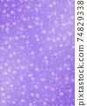 日本圖案背景圖日本紙和紮染和櫻花圖案圖案紫色其他顏色 74829338