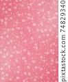 日本圖案背景圖日本紙與紮染和櫻花圖案圖案紅色和其他顏色 74829340