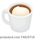 泡沫美味的拿鐵咖啡 74829716