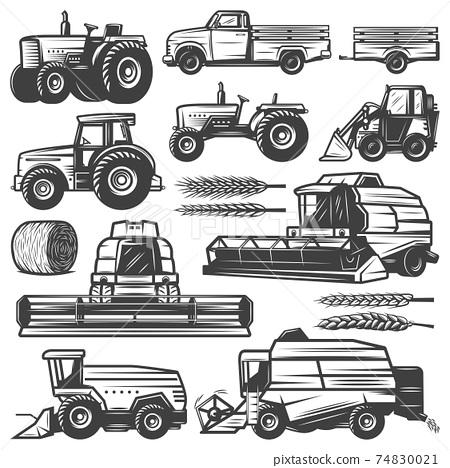Vintage Harvesting Transport Collection 74830021