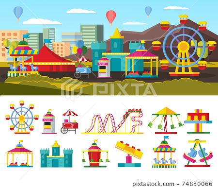 Urban Amusement Park Concept 74830066