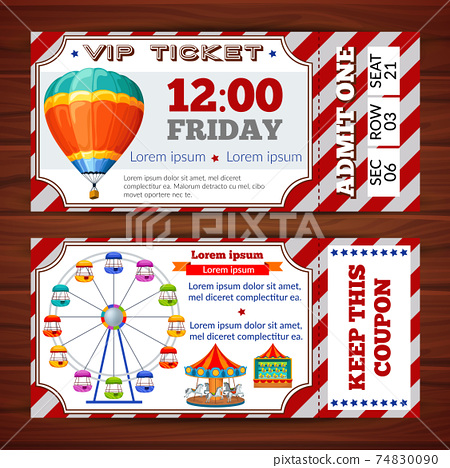 Amusement Park Tickets 74830090
