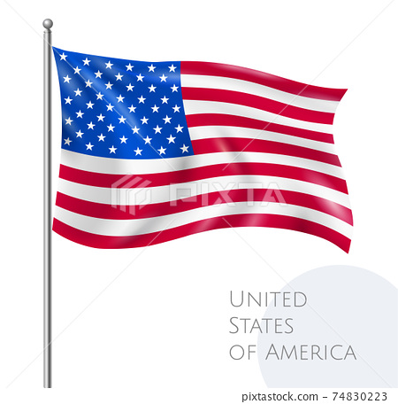 USA Flag Illustration 74830223
