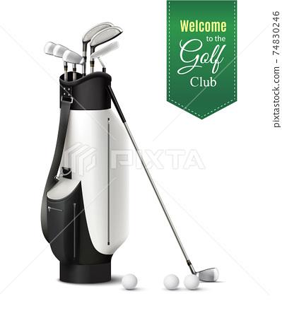 Golf Realistic Set 74830246