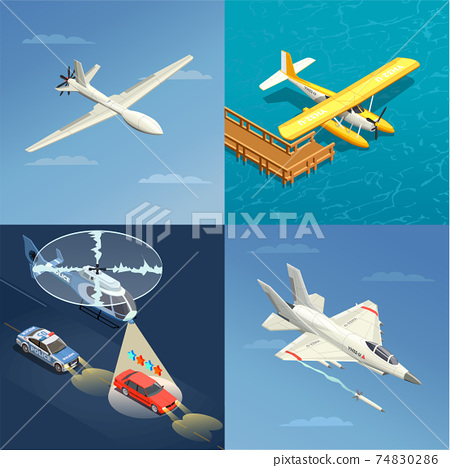 Airplanes Helicopters Design Concept 74830286
