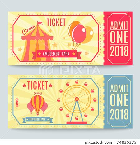 Amusement Park Tickets Set 74830375