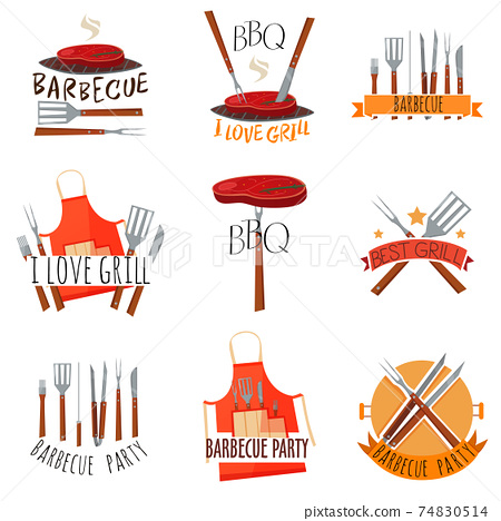 Barbecue Party Label Set 74830514