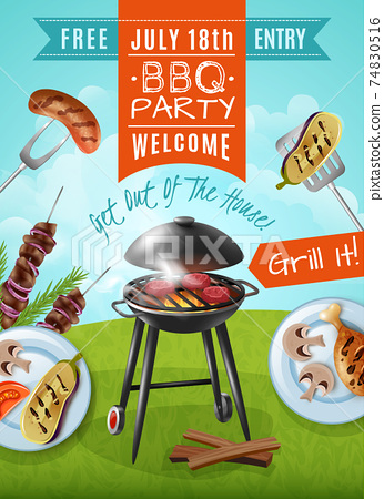Barbecue Party Poster 74830516