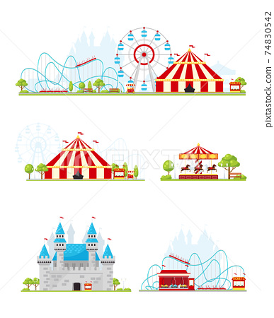 Amusement Park Banner Set 74830542