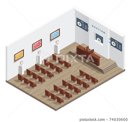 Modern Auction Room Interior 74830600