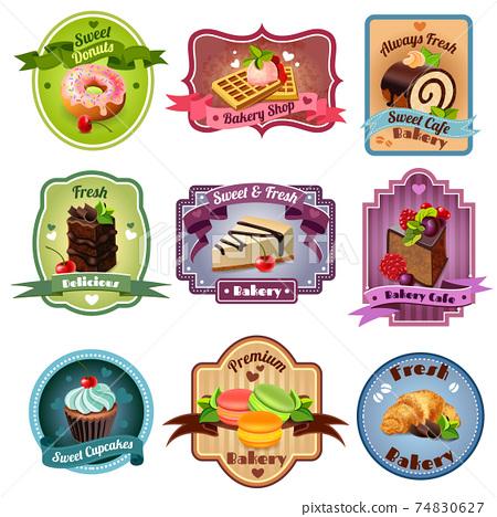 Bakery Emblems Set 74830627