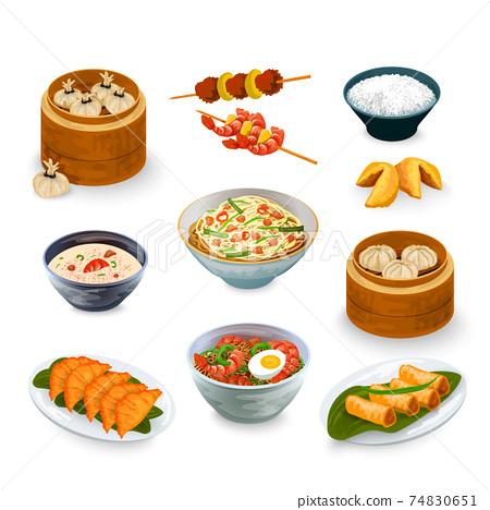 Asian Food Set 74830651