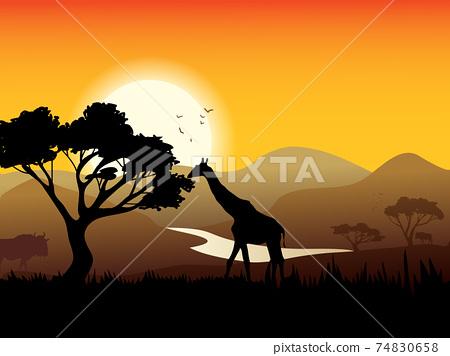 African Landscape Poster 74830658