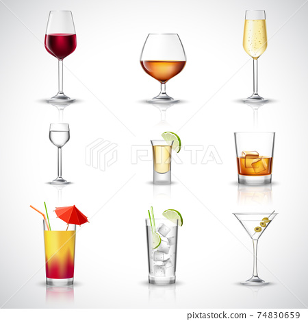 Alcohol Realistic Set 74830659