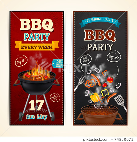 Barbecue Party Banners Set 74830673