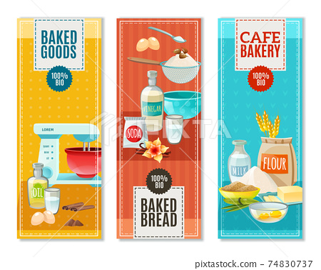 Baking Ingredients Banners 74830737