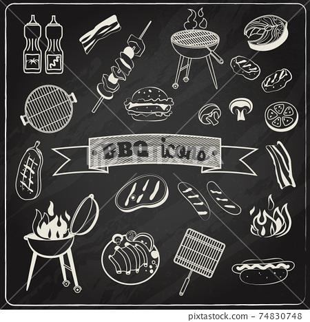 Barbecue Chalkboard Set 74830748
