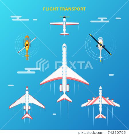 Air Transport Airport Elements Set 74830796